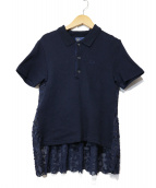 MUVEIL×FRED PERRY(ミュベイル×フレッドペリー)の古着「BACK LACE POLO」|ネイビー