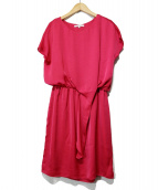CARVEN(カルヴェン)の古着「Side Knot Dress」 ピンク
