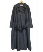 Calvin Klein(カルバンクライン)の古着「オールドラグラントレンチコート」|グレー