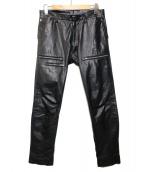 ato(アトウ)の古着「カウハイドレザーパンツ」|ブラック