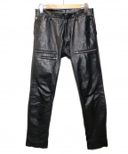 ato(アトウ)の古着「カウハイドレザーパンツ」 ブラック