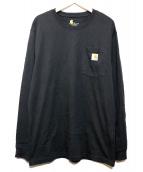 CarHartt(カーハート)の古着「L/SポケットTシャツ」 ブラック