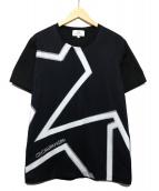ck Calvin Klein(シーケーカルバンクライン)の古着「メッシュレイヤー スーパースター Tシャツ」|ブラック