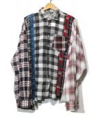 Rebuild by Needles(リビルド バイ ニードルズ)の古着「7-Cut Flannel Shirt」|マルチカラー