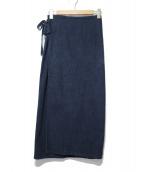 SOU・SOU(ソウソウ)の古着「こしきコットンラップスカート」|ネイビー