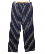 Yarmo(ヤーモ)の古着「Back Belt Work Pants」 ネイビー