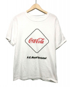 F.C.R.B.(エフシーアールビー)の古着「COCA-COLA EMBLEM TEE」|ホワイト