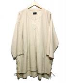 Danke schon(ダンケシェーン)の古着「LaceUp Skipper Shirts」|ベージュ