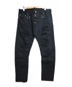 DSQUARED2(ディースクエアード)の古着「SOLID COLORED RIP SKATER JEANS」|ブラック