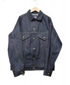 MADISON BLUE(マディソンブルー)の古着「オーバーサイズリジットデニムジャケット」|インディゴ