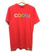 COOGI(クージー)の古着「[古着]刺繍ロゴTee」 レッド