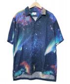 LANVIN en Bleu(ランバンオンブル)の古着「COSMICオープンカラーシャツ」|ネイビー