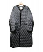 noir kei ninomiya(ノワール ケイ ニノミヤ)の古着「ベロア切替キルティングコート」|ブラック