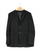 DIESEL Black Gold(ディーゼル ブラック ゴールド)の古着「スリーブ切替テーラードジャケット」|ブラック