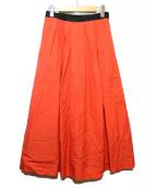 LANVIN COLLECTION(ランバンラコレクション)の古着「ミディスカート」|レッド