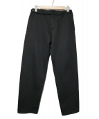 COLINA(コリーナ)の古着「Heavy Jersey Curve Slacks」|ブラック