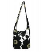 marimekko(マリメッコ)の古着「CLOVERショルダーバッグ」|ブラック×ホワイト