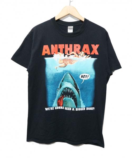 バンドTシャツ(バンドTシャツ)バンドTシャツ (バンドTシャツ) [古着] ANTHRAX バンドTシャツ ブラック サイズ:M ANTHRAX  完売品 ムービモチーフの古着・服飾アイテム
