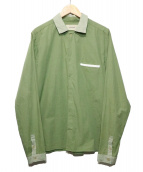 licht bestben(リヒトベシュトレーベン)の古着「切替コットンシャツ」 グリーン