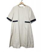 S Max Mara(エス マックスマーラ)の古着「コットンタックワンピース」|ベージュ