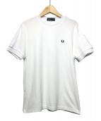 FRED PERRY(フレッドペリー)の古着「LACE TRIM T-SHIRT」|ホワイト