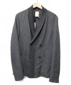 VIKTOR&ROLF(ヴィクターアンドロルフ)の古着「ショールカラーニットジャケット」 チャコールグレー