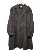 STEVEN ALAN(スティーヴンアラン)の古着「CHECK CHESTER COAT」|ブラウン