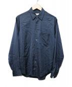 STEVEN ALAN(スティーヴンアラン)の古着「CU/PE SATIN OUTSEAM/シャツ」|ネイビー