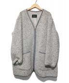 ZUCCA(ズッカ)の古着「ノーカラーウールコート」|グレー