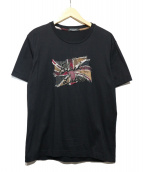 BLACK LABEL CRESTBRIDGE(ブラックレーベルクレストブリッジ)の古着「ロゴ刺繍Tシャツ」 ブラック