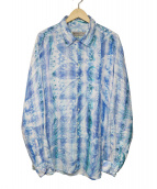 ETRO(エトロ)の古着「リネンペイズリーシャツ」|ブルー
