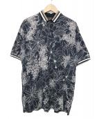 ETRO(エトロ)の古着「ボタニカル柄ポロシャツ」|ブラック