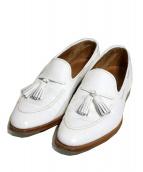 Crockett & Jones(クロケットアンドジョーンズ)の古着「タッセルローファー」 ホワイト