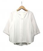 TONAL(トーナル)の古着「フロント切替7分袖ブラウス」 ホワイト