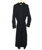 1er Arrondissement(プルミエ アロンディスモン)の古着「ハイブリットツイルロングコート」|ブラック