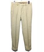 EDIFICE(エディフィス)の古着「RIRANCHA DOBBY PANTS」 ベージュ