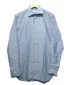 EDIFICE(エディフィス)の古着「セミワイドデニムシャツ」 ブルー