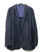 LANVIN en Bleu(ランバンオンブル)の古着「リネンジャージ ジャケット」 ネイビー