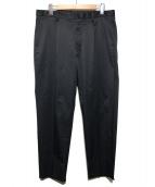 LANVIN en Bleu(ランバンオンブルー)の古着「ワンプリーツ セミワイドパンツ」 ネイビー