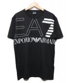 EMPORIO ARMANI EA7(エンポリオ アルマーニ イーエーセブン)の古着「Train Logo Oversize TEE」|ブラック