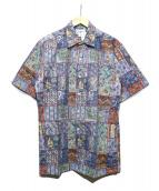 reyn spooner(レインスプーナー)の古着「コットンアロハシャツ」|ネイビー
