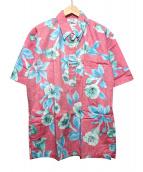 reyn spooner(レインスプーナー)の古着「プルオーバーアロハシャツ」|ピンク