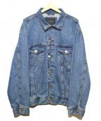 ZARA(ザラ)の古着「オーバーサイジングデニムトラッカージャケット」|インディゴ