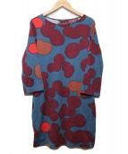 marimekko(マリメッコ)の古着「総柄カットソー」|ネイビー