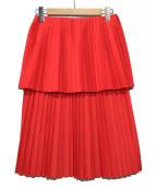 yulia yefimtchuk(ユリア イエンフィムチュック)の古着「プリーツレイヤードスカート」|レッド