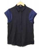 JIL SANDER NAVY(ジルサンダーネイビー)の古着「切替レーヨンシャツ」|ネイビー