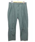 LANVIN en Bleu(ランバンオンブル)の古着「タックパンツ」 グリーン