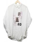 LANVIN en Bleu(ランバンオンブル-)の古着「コラージュワークシャツ」 ホワイト