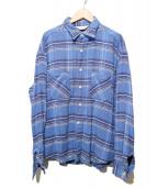 UNUSED(アンユーズド)の古着「COTTON ZIP SH」|ブルー