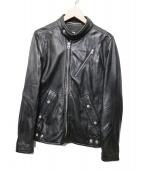 G-STAR RAW(ジースターロウ)の古着「ラムレザーライダースジャケット」|ブラック